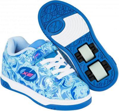 Heelys Dual Up Solid Blue/Multi/Marble Kids Heely X2 Shoe UK 1