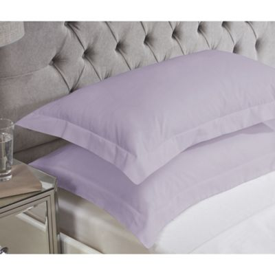 Julian Charles Grape Luxury 180 Thread Count Oxford Pillowcases