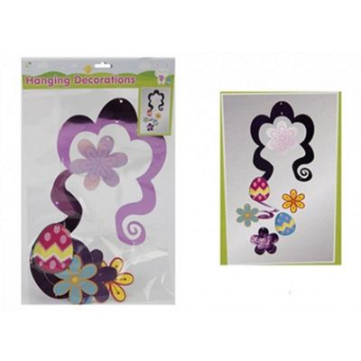 Easter Themed Lazer Hanging Swirl Decoration