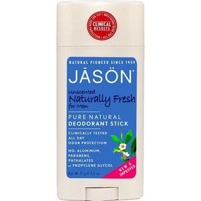 Jason Naturally Fresh Unscented Stick Deodorant for Men