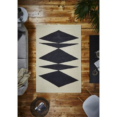 Modern Inaluxe Black Crystal Palace Rug - 120x170cm