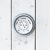 Galvanised Outdoor Barometer