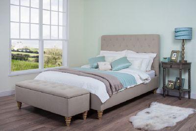 Rosa Upholstered Bed Frame Double Mink