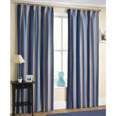 Enhanced Living Twilight Navy Pencil Pleat Curtains - 66x54 Inches (168x137cm)