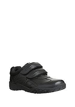 F&F Leather Riptape Trainers - Black
