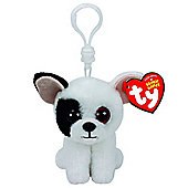 TY Beanie Boo Clip Marcel the White Dog