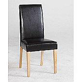 Kensington Black Faux Leather Dining Chair