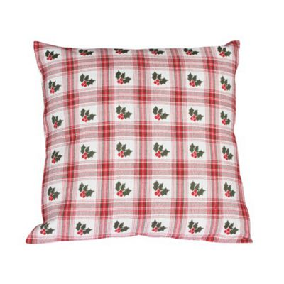 Woven Magic Jaquard Holly Cushion
