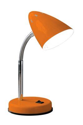 Premier Housewares Flexi Desk Lamp - Orange