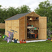 BillyOh Keeper Overlap Apex Wooden Garden Shed - 8 x 8 Windowless