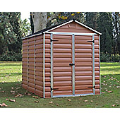 Palram Skylight Amber Plastic Shed, 6x8ft