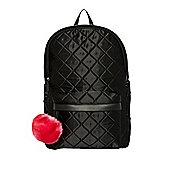 F&F Quilted Satin Backpack