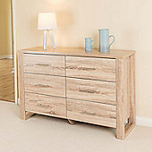 Christow Oak Effect 6 Drawer Cabinet