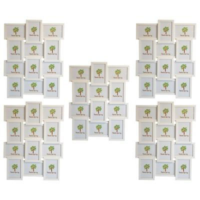 Nicola Spring Multi Collage Hanging Photo White Frame - 12 photo spaces - Pack Of 5