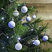 36pcs 3cm Shatterproof White Christmas Tree Mini Bauble Decorations