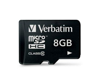 Verbatim microSDHC 8GB Class 10 Card