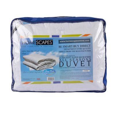 Homescapes Luxury Hotel Quality Super Microfibre All Seasons (9 Tog + 4.5 Tog) Super King Duvet Quilt