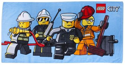 Lego 'City Heroes' Printed Beach Towel