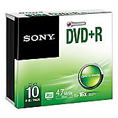 Sony 10DPR47SS DVD+R 16x recordable storage 10-pack