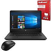 "Certified Refurbished HP 14-bp061sa 14"" Laptop Intel Core i3-6006U 4GB 500GB Windows 10 with Internet Security & Mouse - 1VH16EA#ABU"