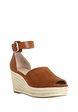 F&F Sensitive Sole Platform Wedges - Tan