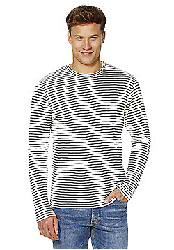 Jack & Jones Premium Striped Jumper - White