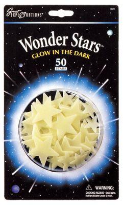 Wonder Stars - 50 Glow In The Dark Stars - University Games
