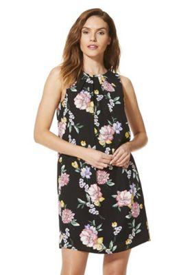 F&F Floral Print Tie Back Dress Multi 8