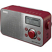 SONY XDRS60DBP DAB/FM PORTABLE RADIO (RED)