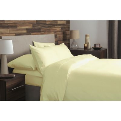 Belledorm 18 Inch Extra Deep Brushed Cotton Lemon Fitted Sheet - Single