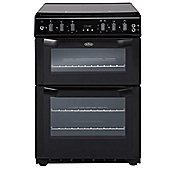 Belling FSG60DOF - 600mm Double Gas Cooker with Electric Grill, Black