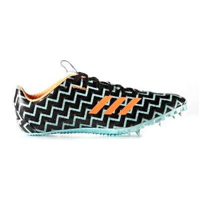 adidas Sprintstar Womens Running Spike Trainer Shoe Black/Teal - UK 9