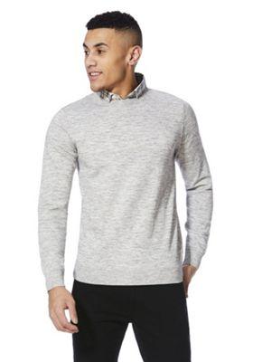 F&F 2 in 1 Shirt Collar Jumper Grey S