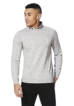 F&F 2 in 1 Shirt Collar Jumper - Grey