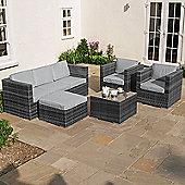 Nova - Lyon 3 Seat Outdoor Garden Rattan Sofa Set - Grey