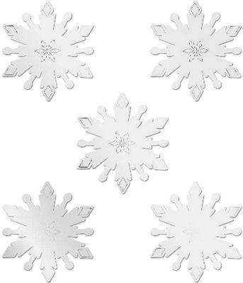 Frozen, Shaped Snowflakes - Five Mini Safety Mirrors