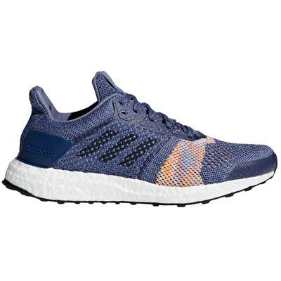 adidas Ultra Boost ST Womens Running Trainer Shoe Indigo/Orange - UK 5