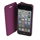 time2 Leather Phone Flip Case Cover - iPhone 5 / 5S / SE - Purple