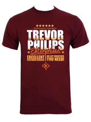 Trevor Philips Enterprises Burgundy Men's T-shirt