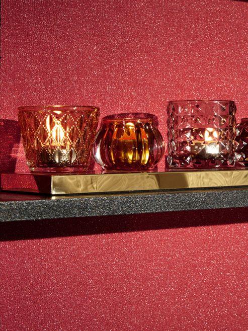 Glitterati Red Glitter Wallpaper Arthouse 892206