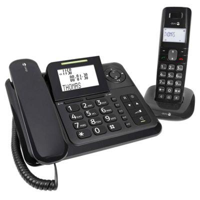 Doro Comfort 4005 Combo Telephone with Answering Machine - Black