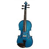 Stentor 1401 Harlequin Violin in Blue (Full Size)