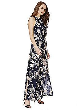 Mela London Floral Print Maxi Dress - Navy