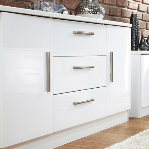 Welcome Furniture Living Room Sideboard - White Gloss
