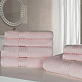 Dreamscene Luxury Egyptian Cotton 7 Piece Towel Bale Set - Pink