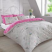 Dreamscene Duvet Set, Toile Bird - Lilac