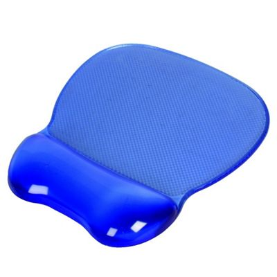 Blue Crystal Gel Mouse Mat and Wrist Rest