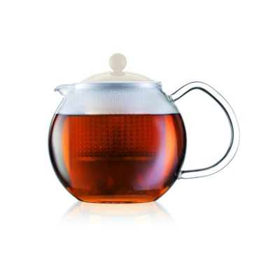 Bodum Assam 0.5L Tea Press Teapot with Off White Lid
