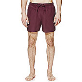 F&F Short Length Swim Shorts - Burgundy