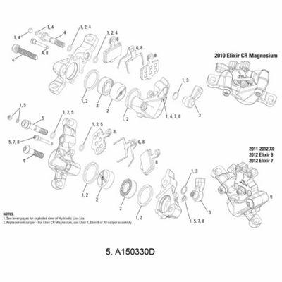 Avid Caliper Hardware Kit Elixir 9/7 Stainless (Banjo Bolt/Caliper Bolt/Pad Pin)